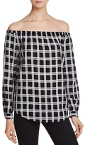 Rag & Bone Off-The-Shoulder Plaid Top
