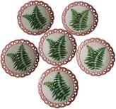 One Kings Lane Vintage 19th-C. Majolica Ferns Plates, S/6