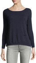 Neiman Marcus Cashmere Pocket Sweater