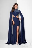 Terani Evening - Ravishing Cape Sleeves Sheath Gown 1713E3323