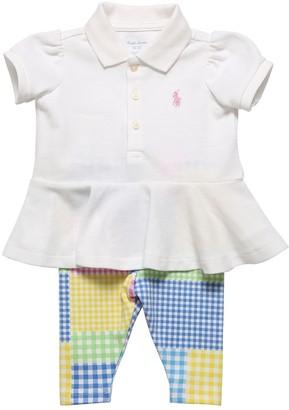Ralph Lauren Cotton Piquet Polo & Jersey Leggings
