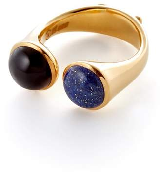 Motley London Descartes Ring In Blue Agate & Onyx