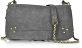 Jerome Dreyfuss Bobi Slate Suede Shoulder bag