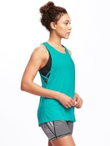 Old Navy Loose-Fit Go-Dry Lattice-Side Tank for Women