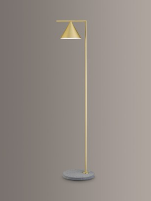 Flos Captain Flint LED Outdoor Floor Lamp, Brass/Grey Lava Stone