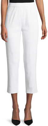 Misook Plus Size Slim-Leg Knit Ankle Pants