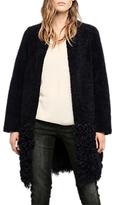 Gerard Darel Grasse Leather Coat, Blue