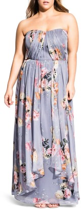 City Chic Whimsy Florence Strapless Maxi Dress