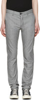 Naked & Famous Denim Grey Slim Chino Trousers