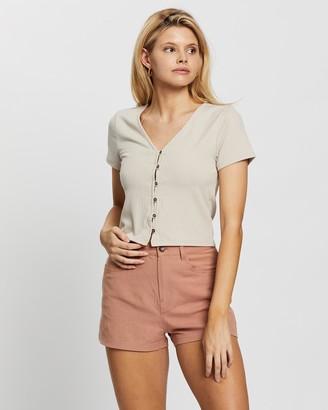 Rusty Women's Nude Basic T-Shirts - Bondi Top - Size One Size, 12 at The Iconic
