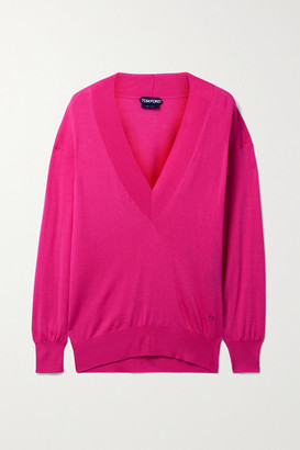 Tom Ford Cashmere And Silk-blend Sweater - Bright pink