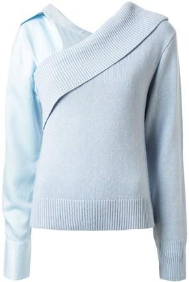 Hellessy off shoulder detachable sleeve sweater