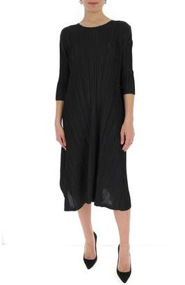Pleats Please Issey Miyake Long Sleeve Dress