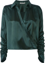Martha Medeiros - wrap Andrea shirt - women - Silk - 36