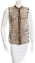 Equipment Sleeveless Leopard Print Top