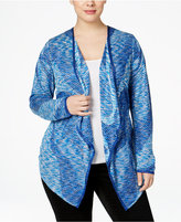 INC International Concepts Plus Size Space-Dyed Waterfall Cardigan, Only at Macy's