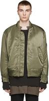 Yeezy Green Nylon Bomber Jacket