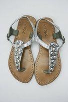 Silver Grommet Sandal