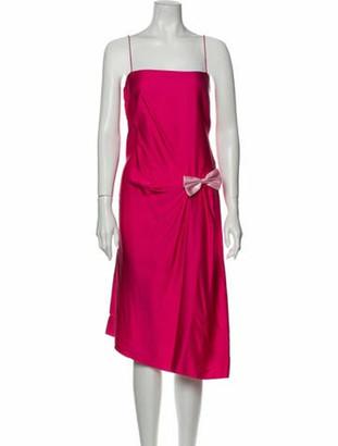 Lanvin Silk Midi Length Dress w/ Tags Pink