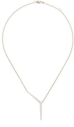 Melissa Kaye 18kt rose gold Aria diamond necklace