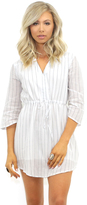 West Coast Wardrobe A Still Breeze Striped Dress in White Stripe