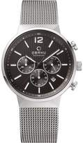 Obaku V180GCCBMC Men's Dial Classic Chronograph Watch with 3 Hands