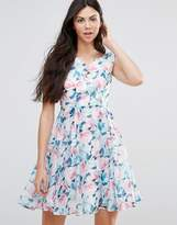 Yumi Rose Organza Print Dress