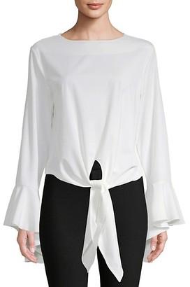 Avantlook Tie-Up Bell-Sleeve Blouse