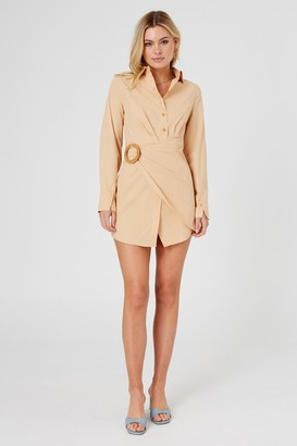 Finders Keepers NAYA SHIRT DRESS fawn