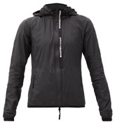 Paco Rabanne Hooded Nylon Windbreaker Jacket - Womens - Black