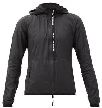 Paco Rabanne Hooded Nylon Windbreaker Jacket - Black