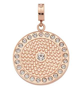 Jewels By Leonardo Leonardo Jewels women pendant Vivida Darlin's stainless steel/rosegold glass rosegold Darlin's Clip small round circle glitter 016111
