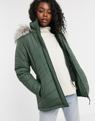 Free Country Poly Air Touch Coat In Green