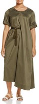 Marina Rinaldi Driver Asymmetric Belted Maxi Dress