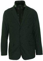 DKNY Men's Cotton Herringbone Blazer with Faux Vest