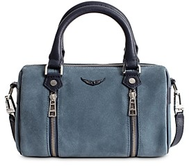 Zadig & Voltaire Sunny Small Suede Bowling Bag