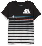 Mighty Fine Toddler Boy's Star Wars - Ship Chase Stripe T-Shirt