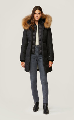 Soia & Kyo CHRISTY brushed down coat with removable natural fur