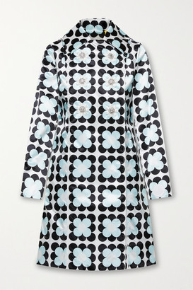 MONCLER GENIUS 8 Richard Quinn Shirley Embellished Floral-print Shell Coat - Light blue