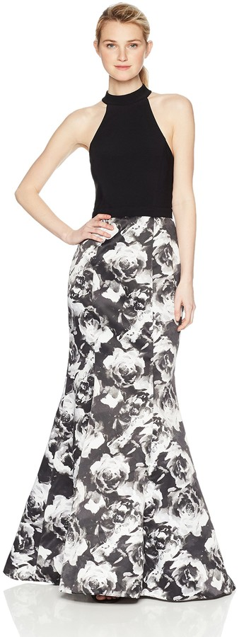 Thumbnail for your product : Blondie Nites Women's Long ity Web Back with Printed Trumpet Skirt
