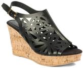 Pierre Dumas Black Sassy Wedge Sandal
