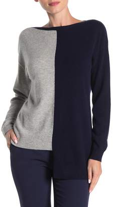 Lynk Knyt & Cashmere Colorblock Sweater