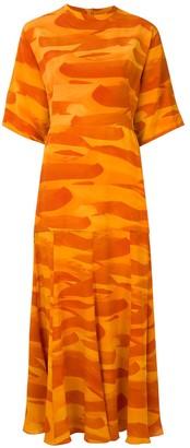 Andrea Marques silk T-shirt dress