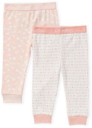 Calvin Klein Newborn Girls) Two-Piece Logo & Splatter Print Leggings Set