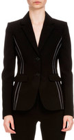 Altuzarra Fenice Two-Button Blazer, Black