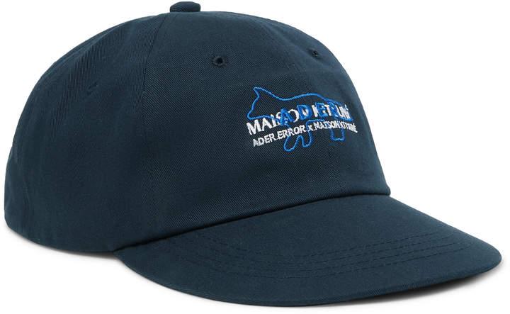 MAISON KITSUNÉ + Ader Error Logo-Embroidered Cotton-Twill Baseball Cap