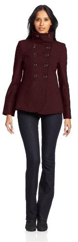 Kenneth Cole New York Women's Funnel-Collar Peacoat