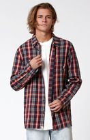 Vans Canehill Plaid Flannel Long Sleeve Button Up Shirt