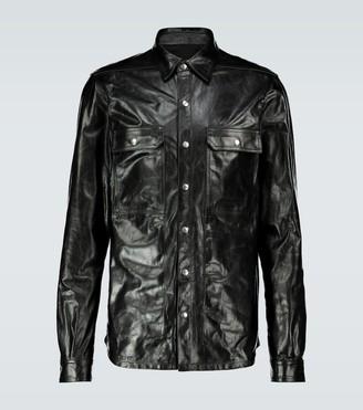 Rick Owens Leather overshirt
