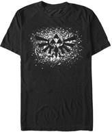 Fifth Sun Men's Tee Shirts BLACK - Legend of Zelda Black Splatter Triforce Tee - Men